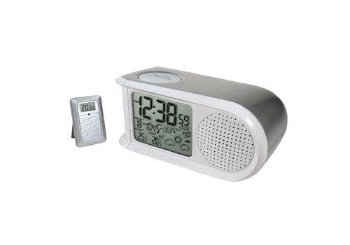 Balance Weerstation/Wekkerradio Digitaal Zilver/Wit