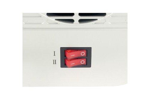 Keramische Ventilatorkachel 750 & 1500 W Wit/Zwart