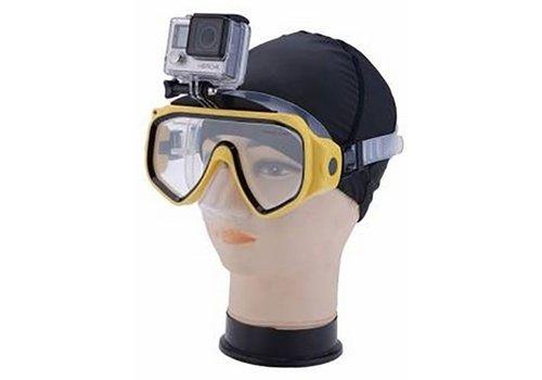 Huismerk Duikbril voor Gopro Duiken Geel
