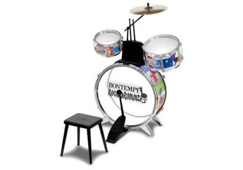 Bontempi Metallic silver drumset, 4-delig