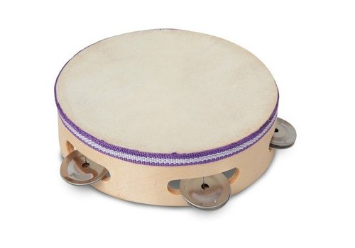 Bontempi Houten tambourine