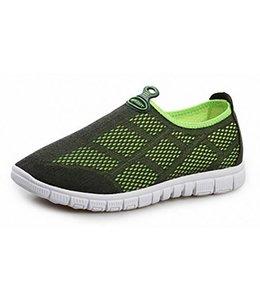 Huismerk Ademende Mesh Sneakers 44 Zwart/Groen