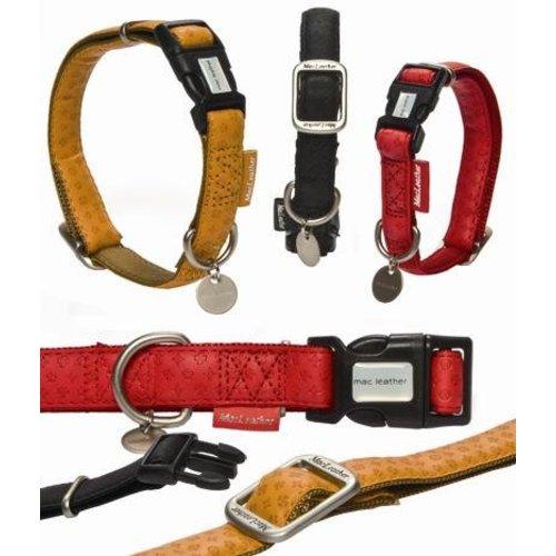 Huismerk Macleather halsband rood