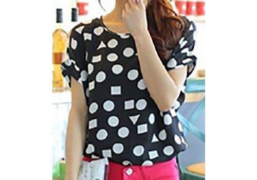 Ronde Kraag T-Shirt met korte mouwen Geometric
