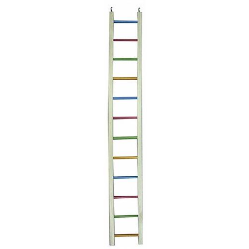 Huismerk Happy pet ladder hout gekleurd