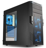 Sharkoon Case Gaming Tower T28 / USB3.0 / Blue