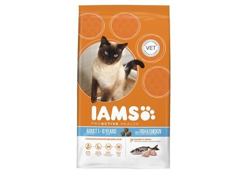 Iams cat droog adult fish / chicken