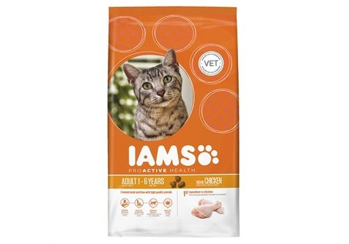 Iams cat droog adult rich in chicken