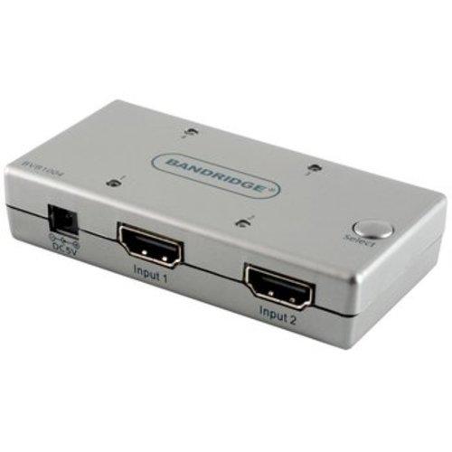 Bandridge 4-Poorts HDMI Schakelaar Zilver