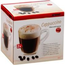 Cappuccino kop en schotel, 2 stuks