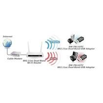 Draadloze USB-Adapter AC600 2.4/5 GHz (Dual Band) Zwart