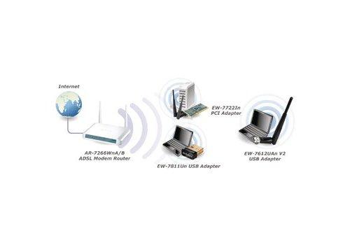 Draadloze USB-Adapter N300 2.4 GHz Zwart