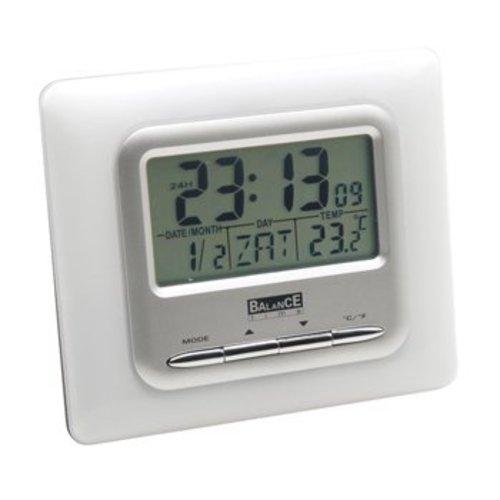 Balance LCD Wekker Digitaal Zilver
