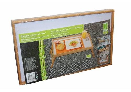 Bamboe dienblad voor op bed (50x30x24)
