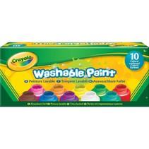 10 Potjes met afwasbare verf