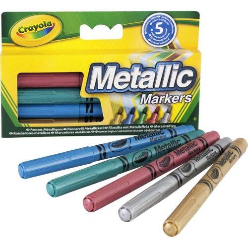 Crayola 5 Metallic viltstiften