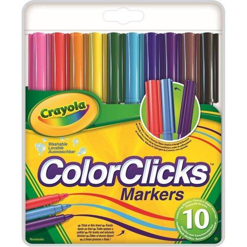 Crayola 10 ColorClicks viltstiften