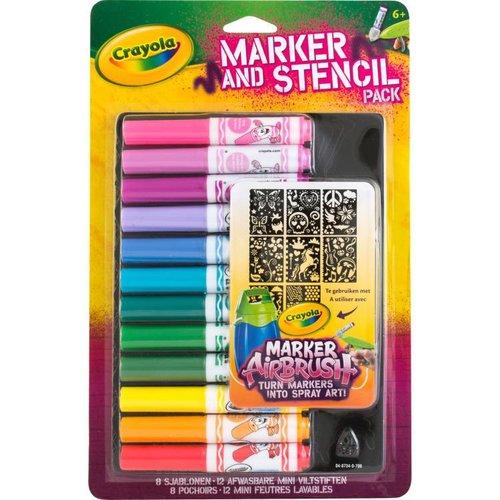 Crayola Mini Viltstiften & Sjablonenset