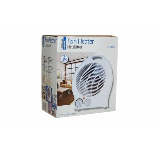 Interior Deluxe Ventilatorkachel (2000W) Fan heater klein & thermostaat