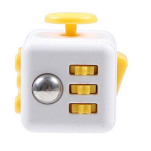Huismerk Fidget Spinner Wit/Geel