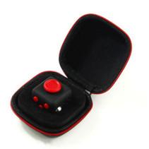 Mini Fidget Spinner Zwart/Rood