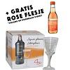 Huismerk Cognac Rose Likeurglazen 4 stuks 80ml + GRATIS Flesje rose