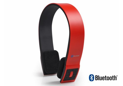 AudioSonic HP-1642 Hoofdband Stereofonisch Draadloos Rood mobielehoofdtelefoon