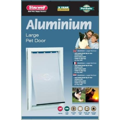 Petsafe Petsafe hondenluik tot 45 kg aluminium wit