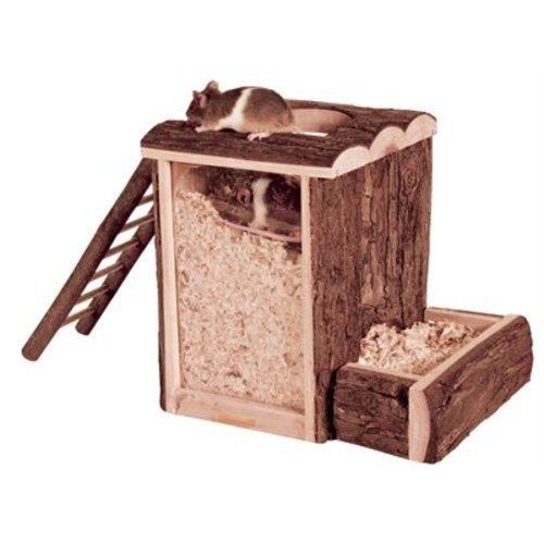 Huismerk Trixie natural living speel- en graaftoren hamster