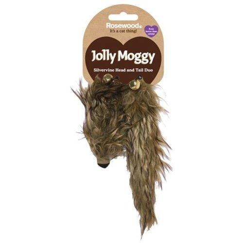 Huismerk Jolly moggy hoofd/staart duo silvervine / matatabi