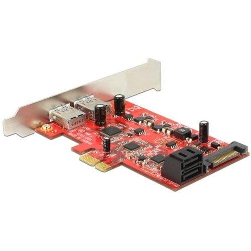 PCIe kaart 2x USB3.0 + 2x Sata 6Gb/s