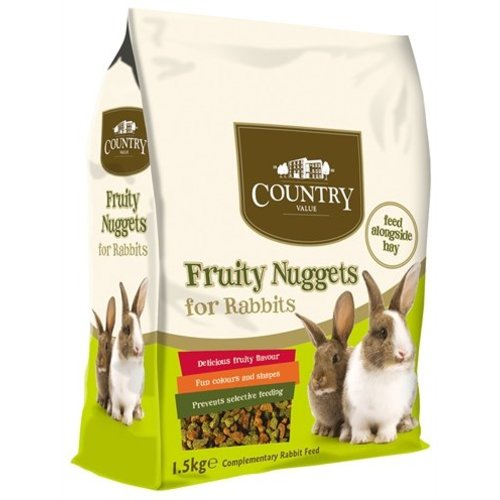 Burgess Burgess country value fruity nuggets rabbit