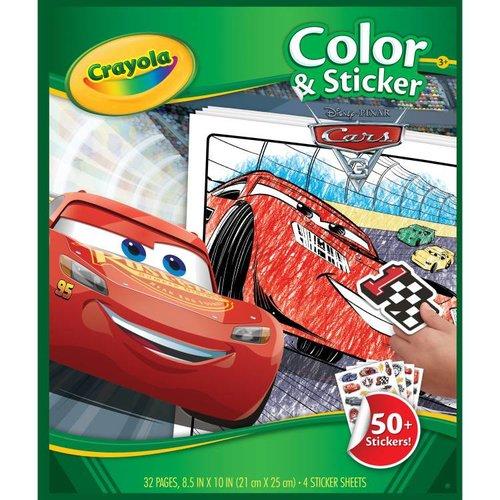 Crayola Kleur en sticker boek - Disney Cars 3