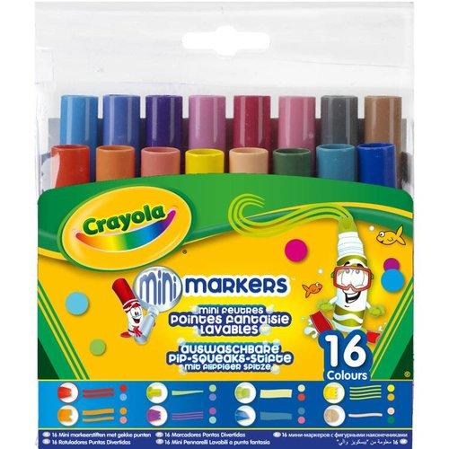 Crayola 16 Viltstiften Pipsqueaks met fantasiepunten