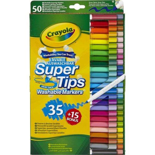 Crayola 50 Viltstiften met superpunt