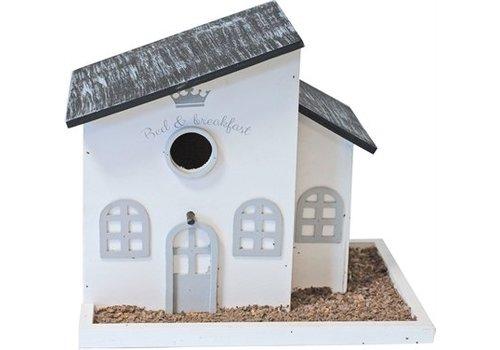 Vogelhuis bed&breakfast grijs/wit