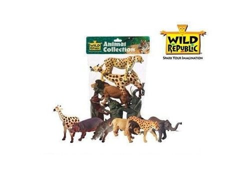 Afrika - 6 plastic dieren in polybag
