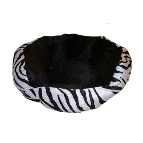 Kattenmand velvet look zebra