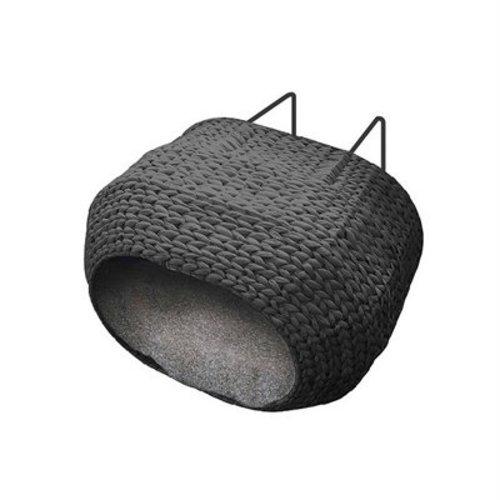Ebi radiator kattenmand sunrise incl kussen zwart