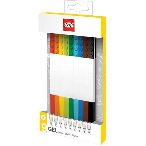 Lego Classic - Set van 9 gelpennen