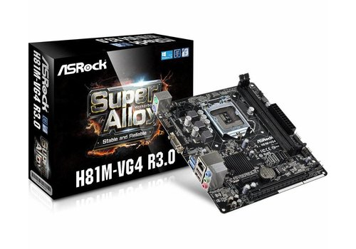 H81M-VG4 R3.0 Intel H81 Socket H3 (LGA 1150) Micro ATX moederbord