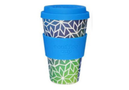 Ecoffee Cup Bamboo - 400 ml Stargate - Blue