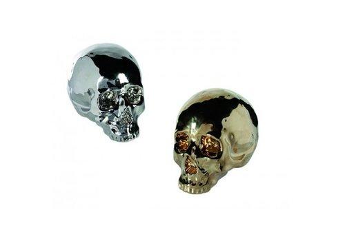 Skull spaarpot goud of zilver