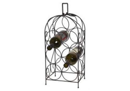Wijnflessen standaard 7 delig - Zwart 51 cm
