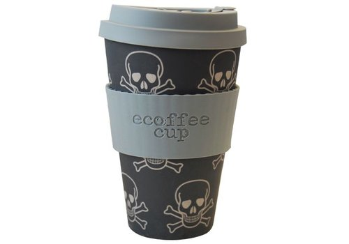 Ecoffee Cup Bamboo skull- 400 ml