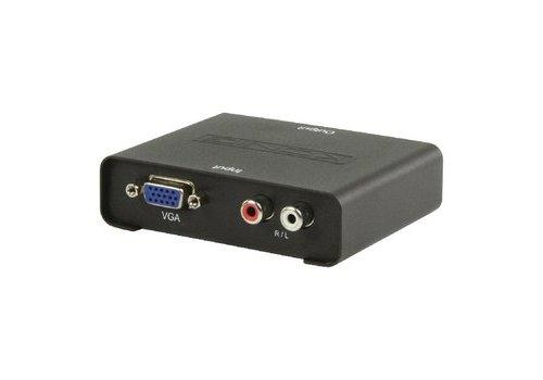 HDMI-Converter VGA Female + 2x RCA Female - HDMI-Uitgang