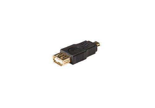 USB 2.0-Adapter Mini-B Male - A Female Antraciet