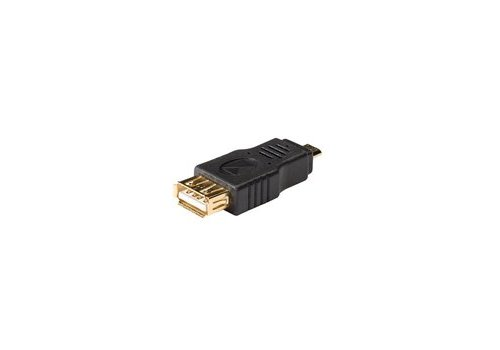 USB 2.0-Adapter Micro-B Male - A Female Antraciet
