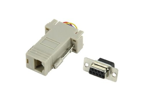 Seriële Adapter SUB-D 9-Pins Female - RJ45 (8/8) Female Ivoor