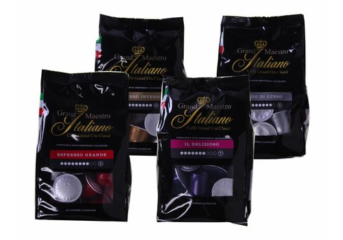 Proefpakket Grand Maestro Italiano Startpakket voor Nespresso® machine (500 capsules)